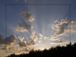 sun rays at dusk